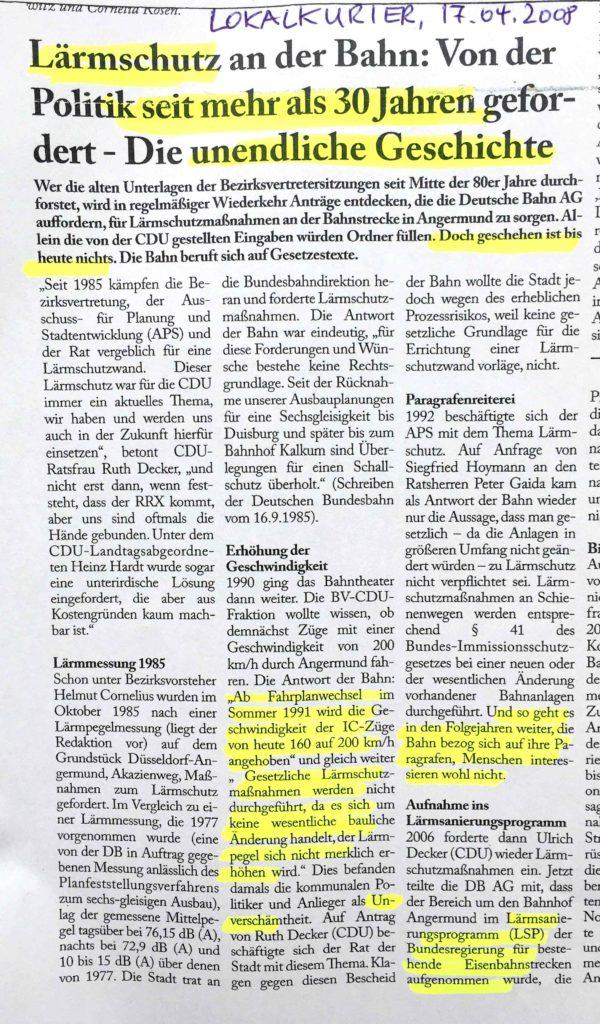 Laermschutz-Bahn-Angermund-Lokalkurier-Laermsanierungsprogramm-Bezirksvertretung-Duesseldorf-Kaiserswerth-Kalkum-Wittlaer-Decker-Laerm-Laermvorsorge