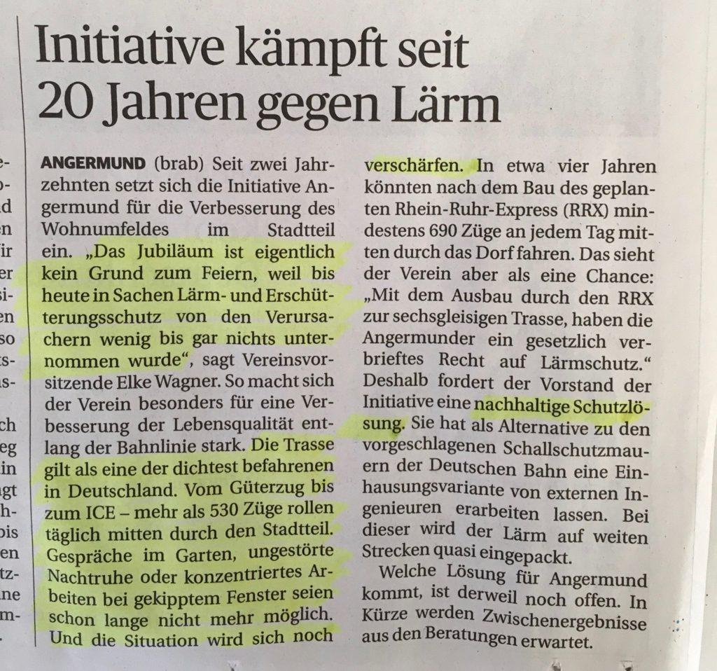 zeitungsartikel-jubiaeum-angermund-inittive-leise-schiene-gleise-rosenstadt-zurlndung-wohnhaeuser-gaerten-einfamilienhaus-wohnungen