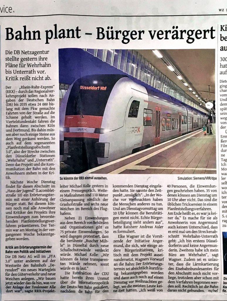 bahn-kritik-zeitungsartikel-westdeutschezeitung-verärgerung-duesseldorf-initiatiive-angemrund