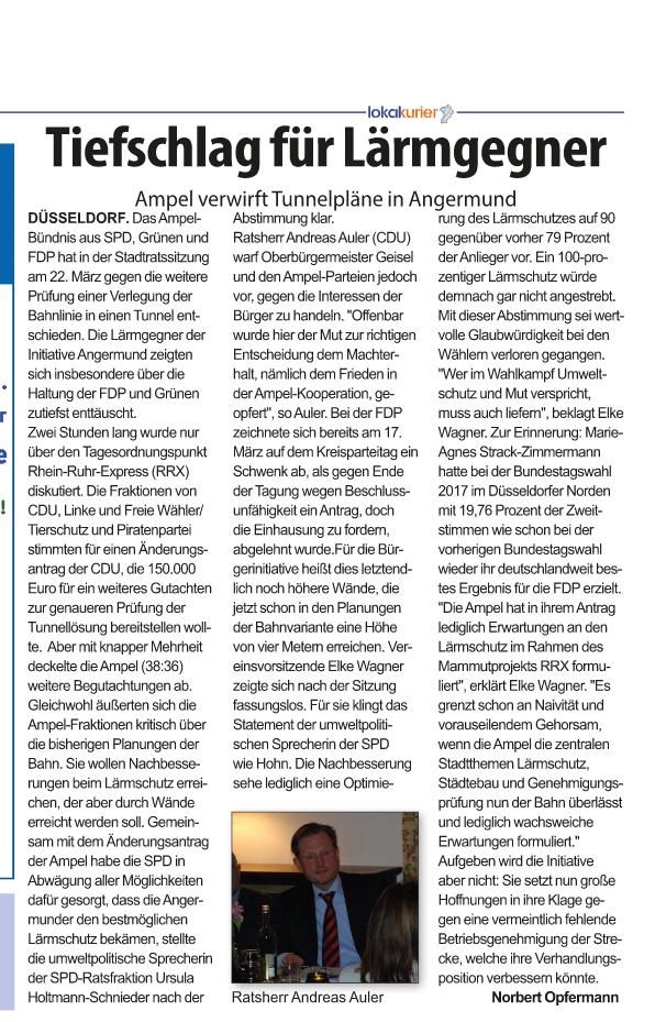 foto-zeitungsartikel-mann mit krawatte-stadtrat-duesseldof-angermund-rrx-deutsche bahn-planfeststellungsverfahren-schwarzbau-genehmigungslage-bahtrasse