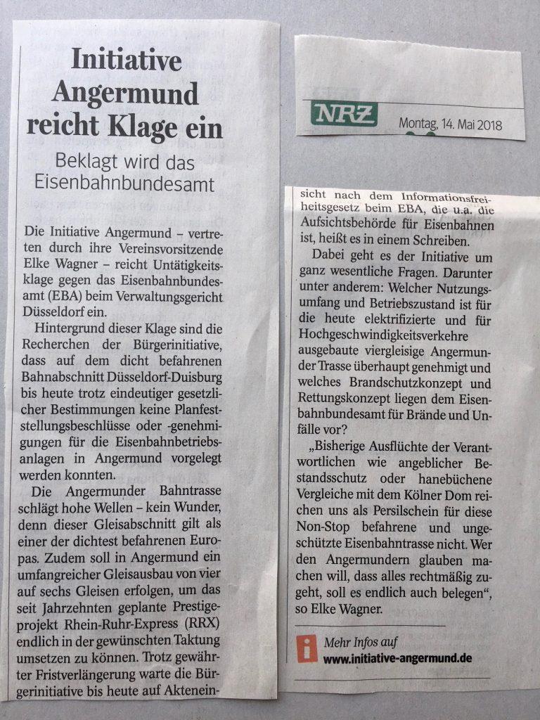 zeitungsartikel-angermund-klage-rrx-schwarzbau-eisenbahnrecht
