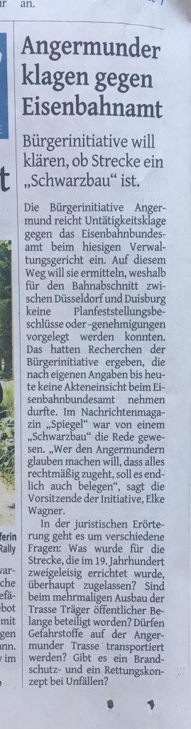 zeitungsartikel-westdeutschezeitung-angermund-eisenbahnamt-schwarzbau-duesseldorf